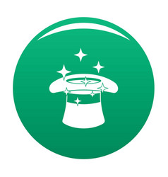 hat with a star icon green vector image