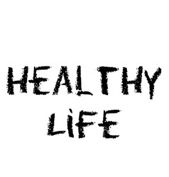 healthy life stamp vector image
