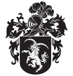 Heraldic silhouette No33 vector