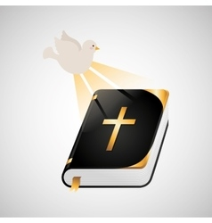 Holy spirit bible icon design vector
