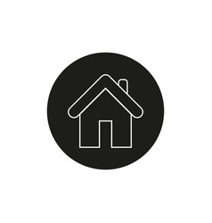 home icon house vector image