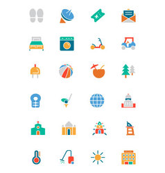 Hotel and Restaurant Colored Icons 6 vector
