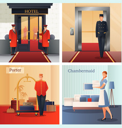Hotel staff design concept vector