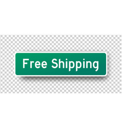 Inscription on green street sign free vector