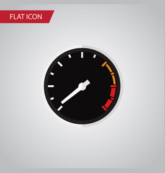 Isolated speedometer flat icon tachometr vector