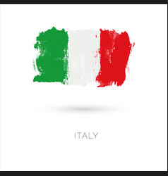 Italy colorful brush strokes painted national vector