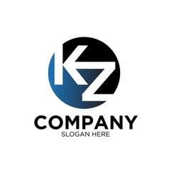 k z business company logo designs vector image