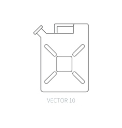 Line flat icon car repair part canister vector