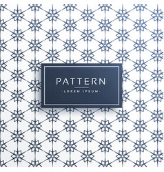 line flower style pattern background vector image