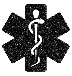 Medical Life Star Grainy Texture Icon vector image