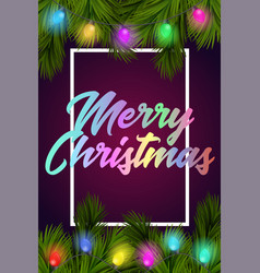 merry christmas and happy new year holiday design vector image