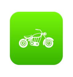 Motorcycle icon digital green vector