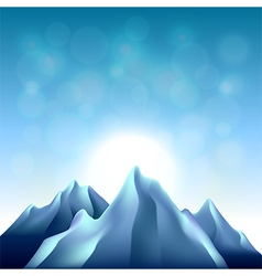 Nature background with mountains vector image vector image