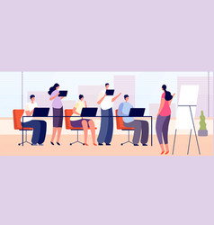 office training team business staff learning vector image
