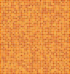 Orange pixel mosaic background vector