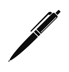 pen icon simple style vector image
