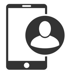 Phone user profile flat icon vector
