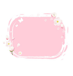 pink stain with flowers vector image