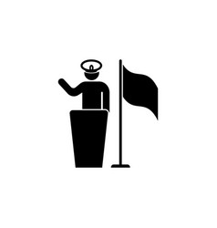 pledge soldier captain flag icon can be used vector image