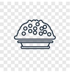Porridge concept linear icon isolated on vector