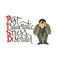 ptsd post traumatic stress disorder vector image