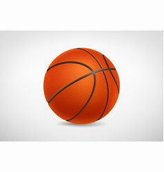 realistic detailed basketball ball on white vector image