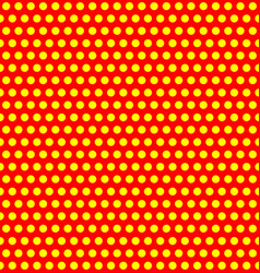 Repeatable duotone yellow-red pop-art polka dot vector