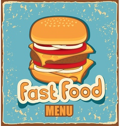 retro cheeseburger vector image