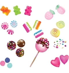 Scattered sweet candies vector