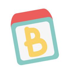 school education alphabet blocks isolated icon vector image