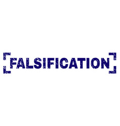 Scratched textured falsification stamp seal vector