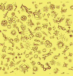 Seamless pattern 2 of childrens contour drawings vector