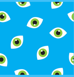 seamless pattern with eyes vector image