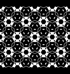 Seamless pattern with hexagons rhombuses vector