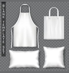 set of accessories template advertising theme vector image