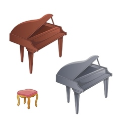 Set Of Two Colors Piano vector image