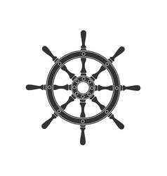 ship wheel sign vector image