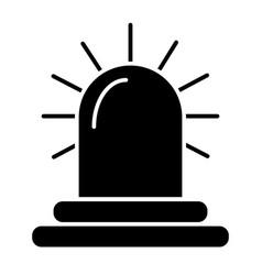 Siren solid icon alarm vector