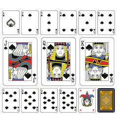 Spades Suite large figures vector image