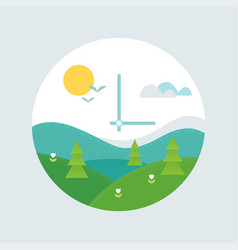Spring forward clock face daylight saving time vector