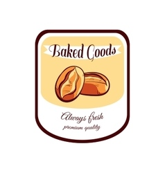 Sticker Baked Goods Always Fresh vector