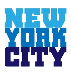 t shirt typography new york blue vector image