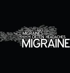 The dreadful migraine text background word cloud vector