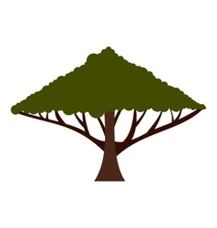 Tree with large crown icon flat style vector image