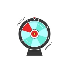 Wheel of fortune spinning icon vector image