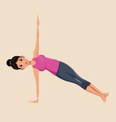 Woman make yoga exercise image vector