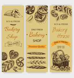 sketch - bakery loaf vector image