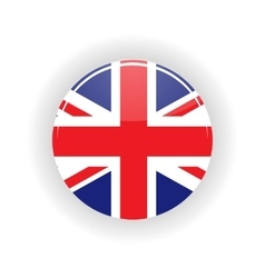 United Kingdom icon circle vector image