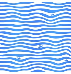 Blue stripes wavy simple background with little vector image vector image