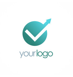check mark arrow logo vector image